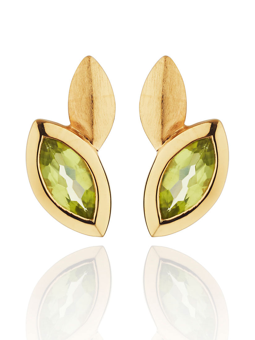 Nara Gold Earrings With Peridot