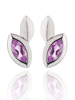 Nara Silver Earrings With Amethyst