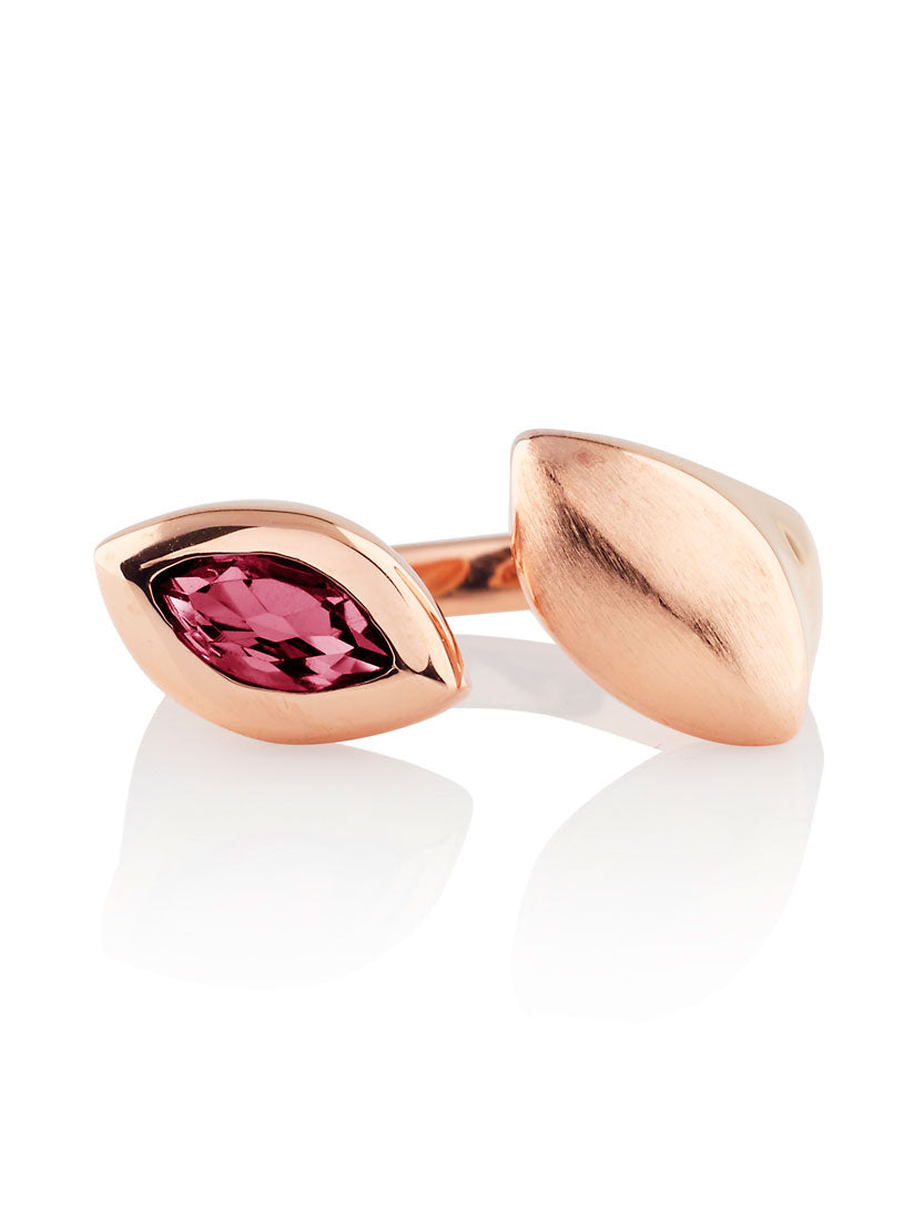 Nara Rose Gold Ring With Rhodolite