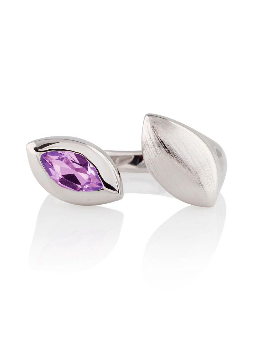 Nara Silver Ring With Amethyst