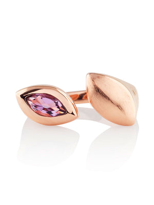 Nara Rose Gold Ring With Amethyst