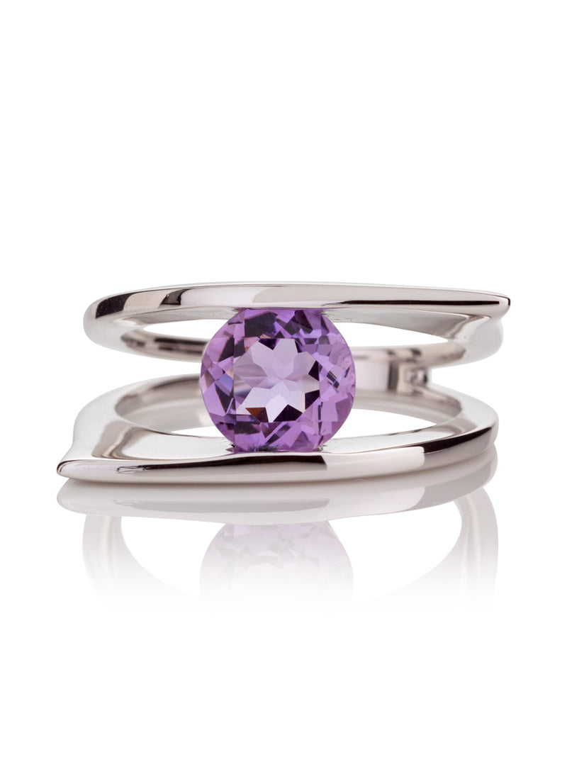 Romance Silver Ring With Amethyst