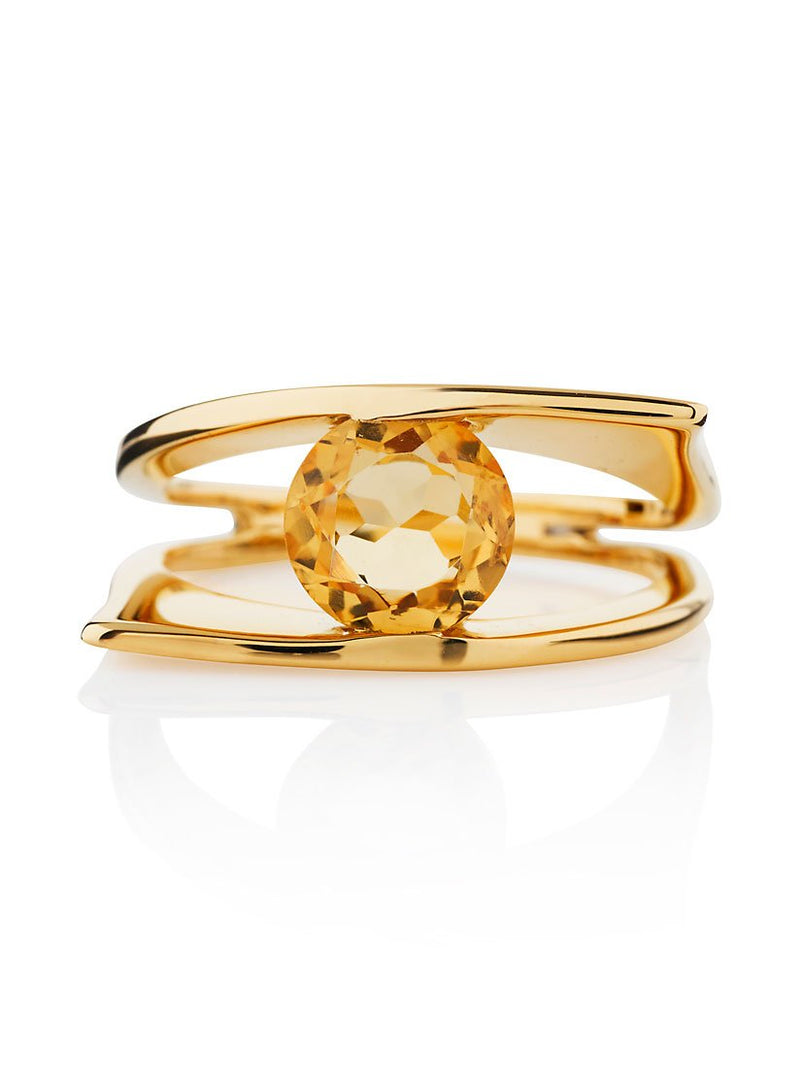 Romance Gold Ring with Citrine