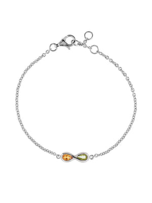 Sempre Silver Bracelet With Peridot and Citrine