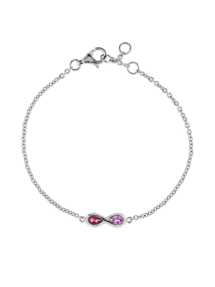 Sempre Silver Bracelet With Amethyst and Rhodolite