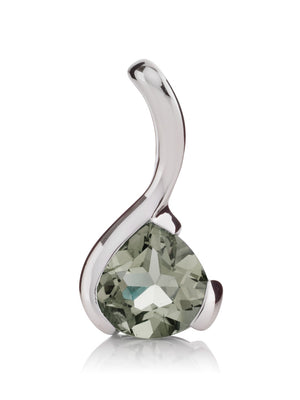 Sensual Silver pendant with Green Amethyst