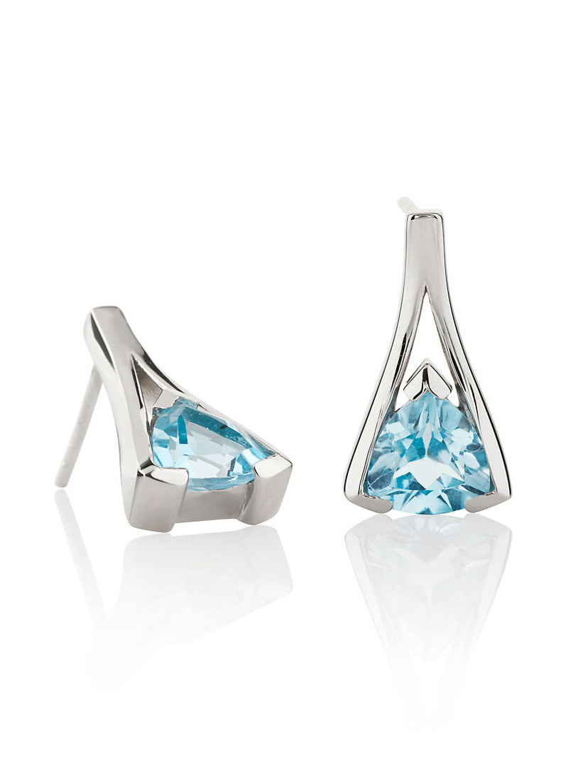 Valentine Silver Earrings With Blue topaz
