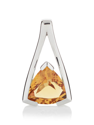 Valentine Silver Pendant With Citrine
