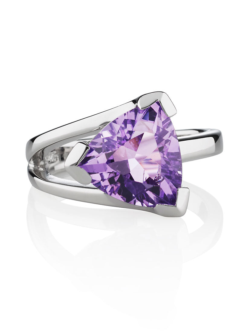 Valentine  Silver Ring with Amethyst