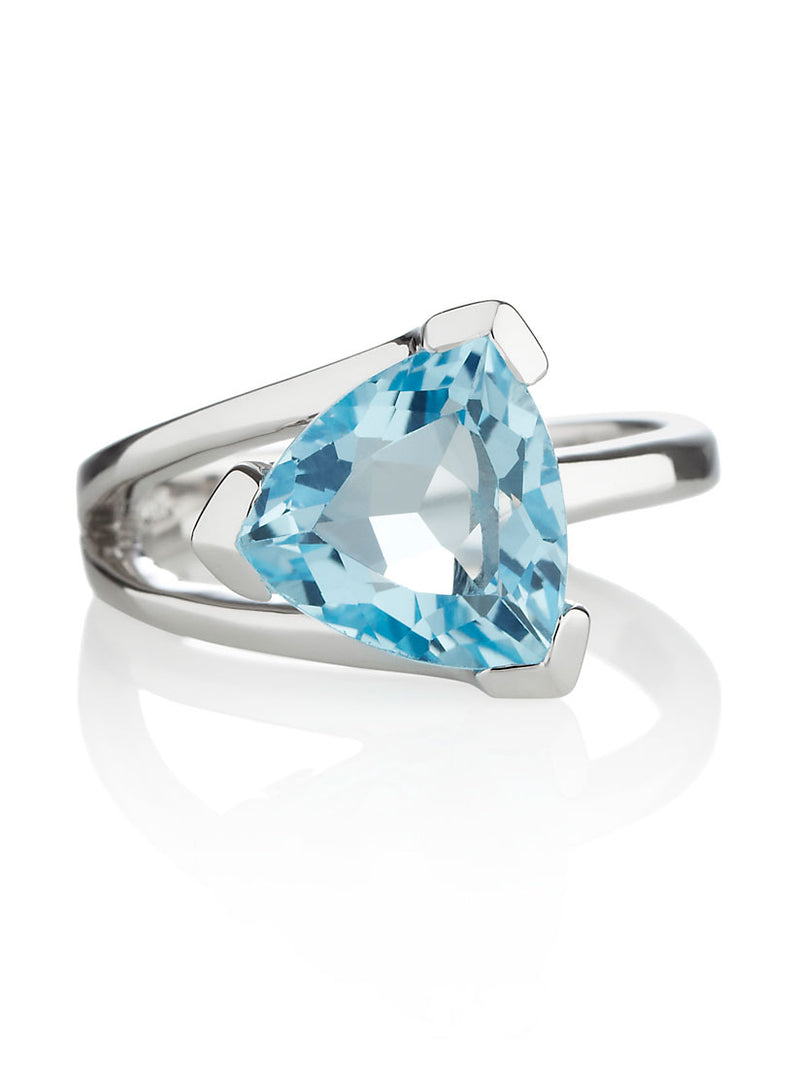 Valentine  Silver Ring with Blue topaz
