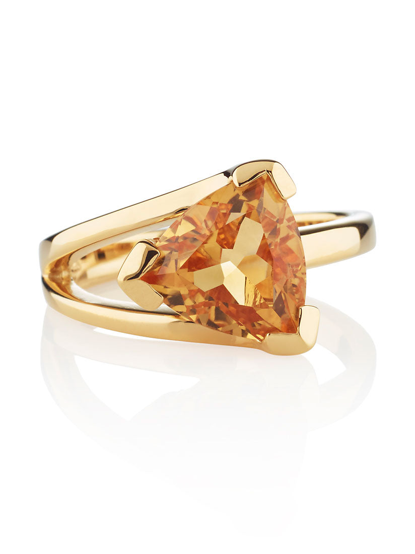 Valentine Gold Ring With Citrine