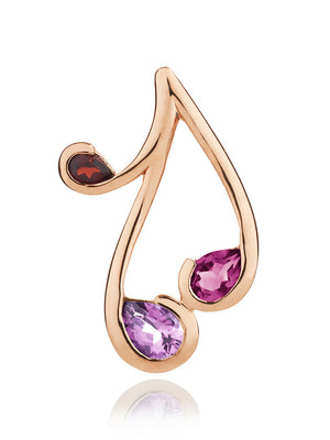 Tana Rose Gold Pendant With Amethyst, Rhodolite and Garnet