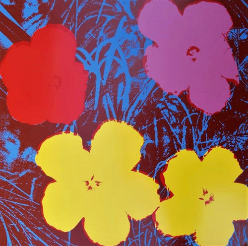 ANDY WARHOL (American, 1928- 1987) Flowers 11.71 by Sunday B. Morning Screenprint