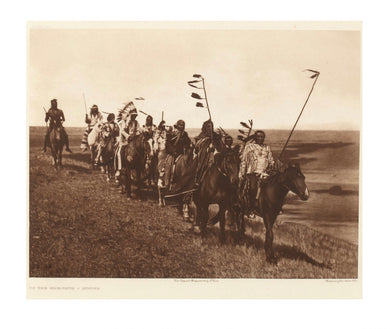 Edward S. Curtis (American, 1868–1952) On the War-Path - Atsina; Photogravure.
