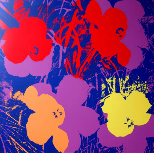 ANDY WARHOL (American, 1928- 1987) Flowers 11.66 by Sunday B. Morning Screenprint