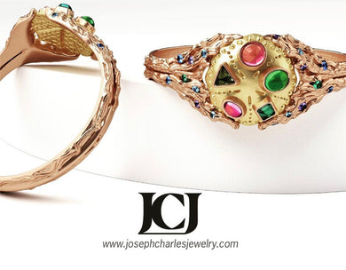 The WAVE I BRACELET by Joseph Charles Jewelry EXCLUSIVELY for Borgia, INC. GALLERIE BB