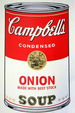 ANDY WARHOL (American, 1928-1987) SOUP CAN 11.47  ONION With Beef Stock Sunday B. Morning Screenprint in colour on stiff woven paper 23.00 × 35.00 inches (58.42 x 88.90 cm)