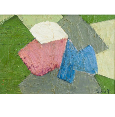 SERGE POLIAKOFF (Russian, 1906-1969) Oil on board.  Signed Poliakoff on the lower right corner.