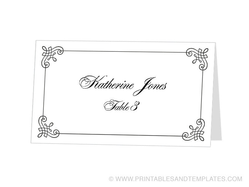 templates for place cards for weddings - tent card template cyberuse