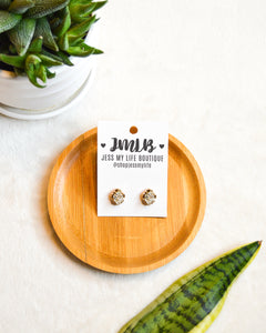 Druzy Stud Earrings (3 Color Options)