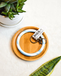 Marble Key Ring Bracelet (4 Color Options)