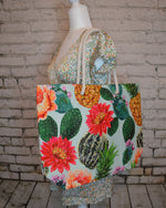Load image into Gallery viewer, Cactus Watercolor Tote Bag