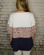 Load image into Gallery viewer, Gabby Animal Print Tiered Top