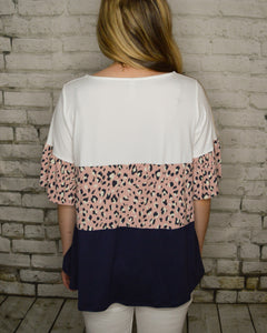 Gabby Animal Print Tiered Top