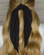 Load image into Gallery viewer, Solid Hair Scarf (Black)