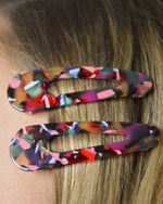 Load image into Gallery viewer, Acrylic Hair Clip Set (5 Color Options)