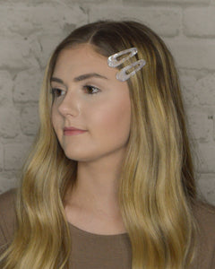 Acrylic Hair Clip Set (5 Color Options)