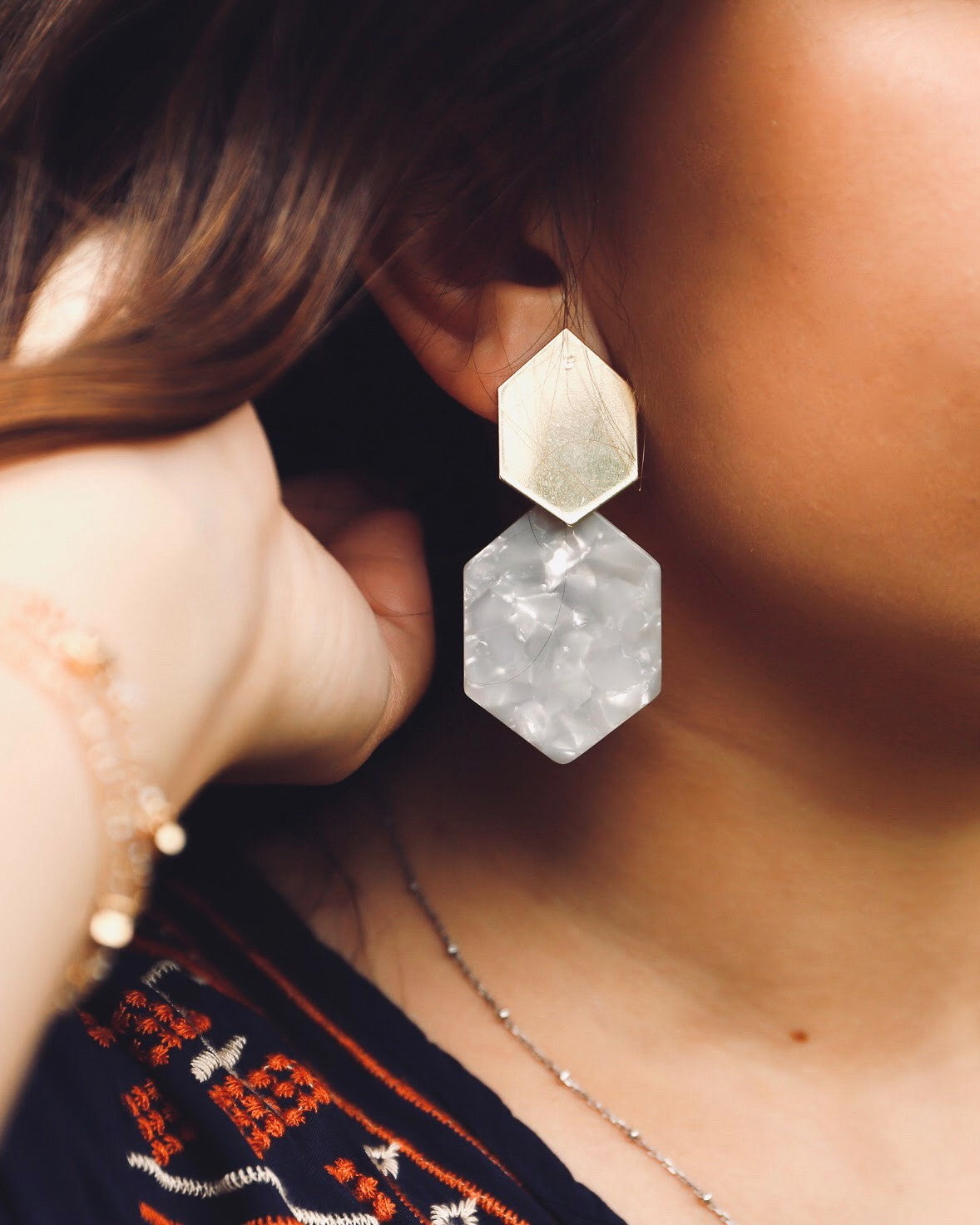 So Hexcited Earrings (2 Color Options)