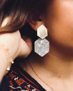 Load image into Gallery viewer, So Hexcited Earrings (2 Color Options)