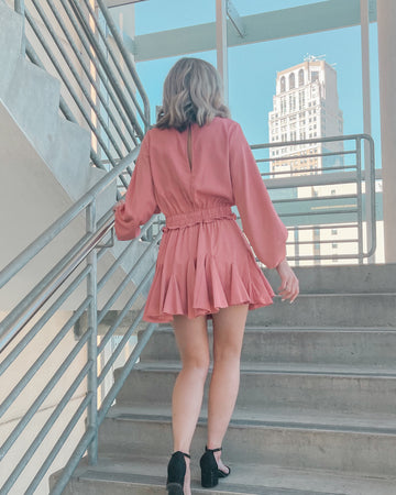 Marisa Ruffle Romper Dress