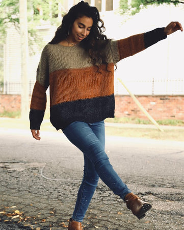 Jen Colorblock Sweater