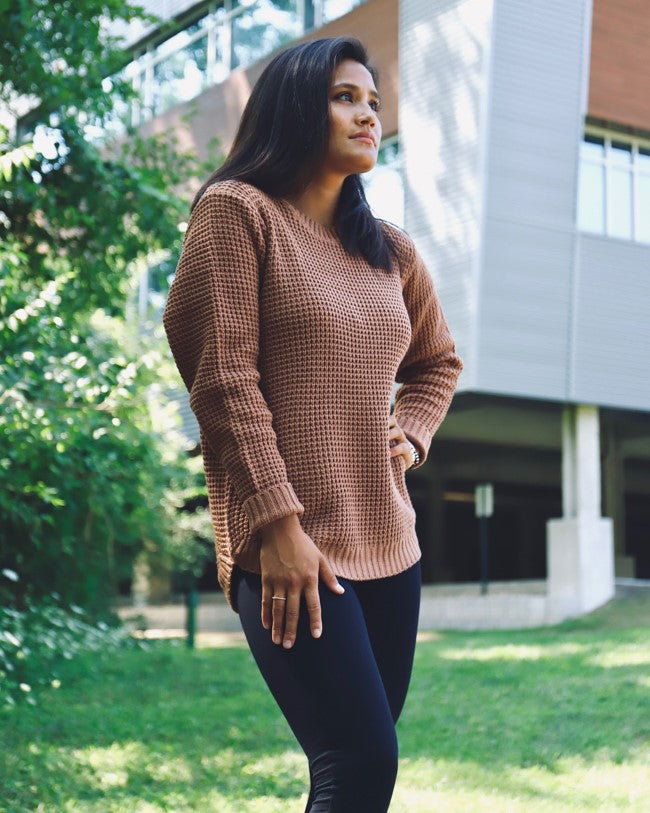 Cambrie Waffle-Knit Sweater