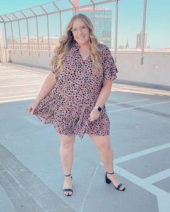 Reilly Cheetah Tiered Dress