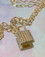 Load image into Gallery viewer, Lock It Up Necklace (2 Color Options)