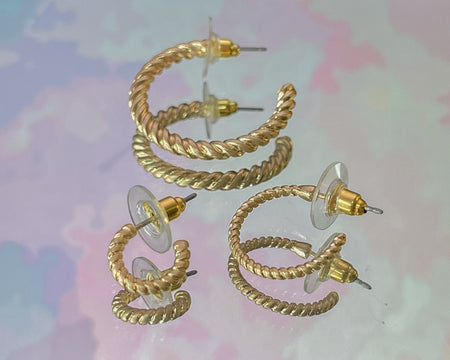 Triple Threat Hoop Earring Set