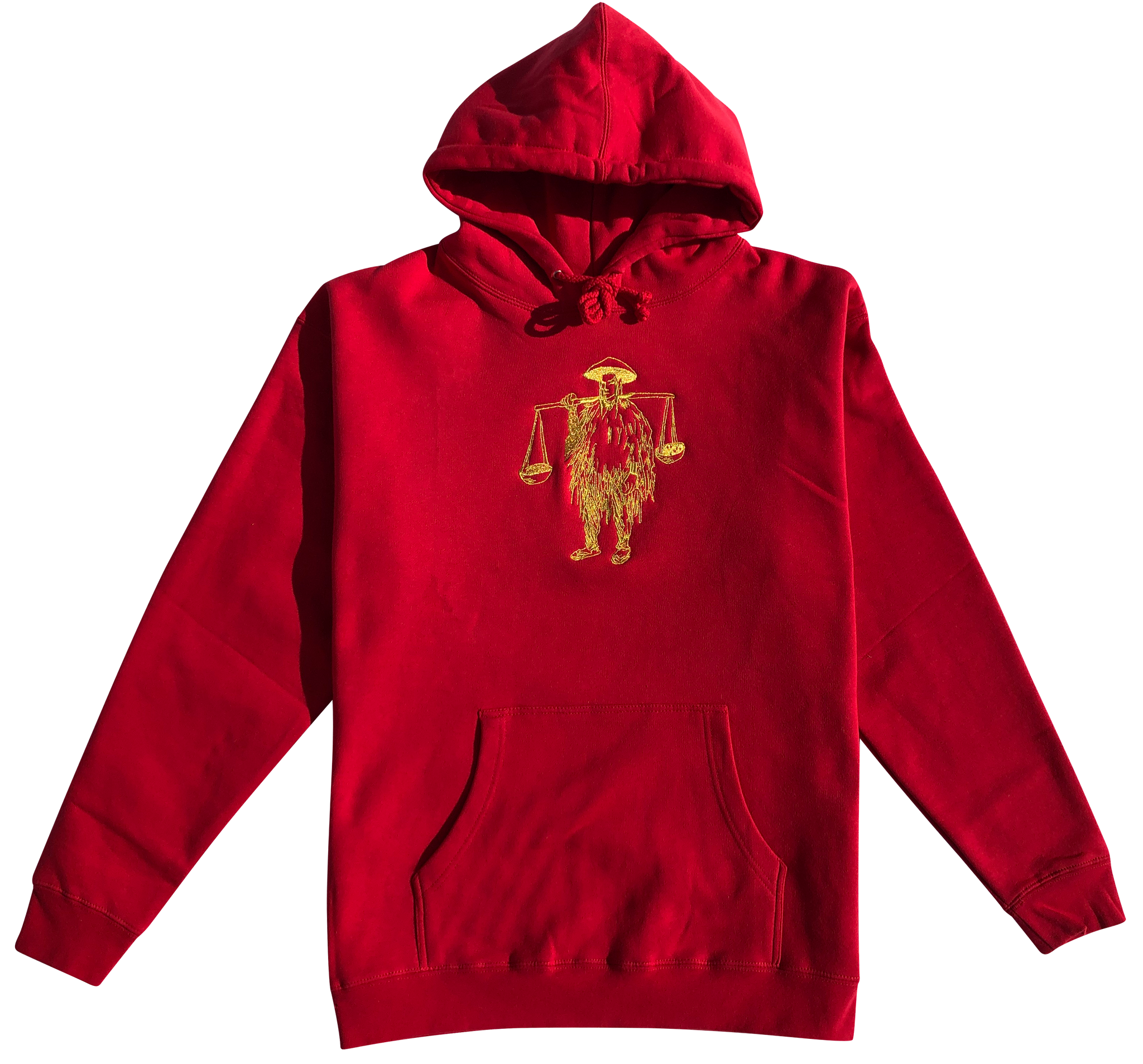 Shotta Man Embroidered Hoodie (Red) - Shotta Spence