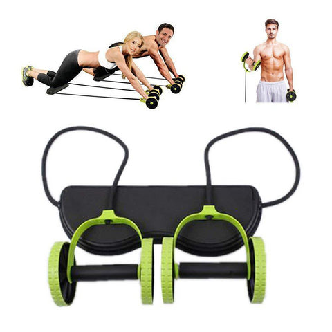 Image of Multifunctional Wheel Abdominal Roller Chest Pull Rope Automatically Rebound