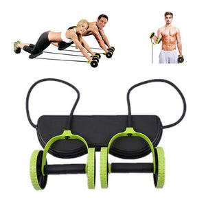 Multifunctional Wheel Abdominal Roller Chest Pull Rope Automatically Rebound