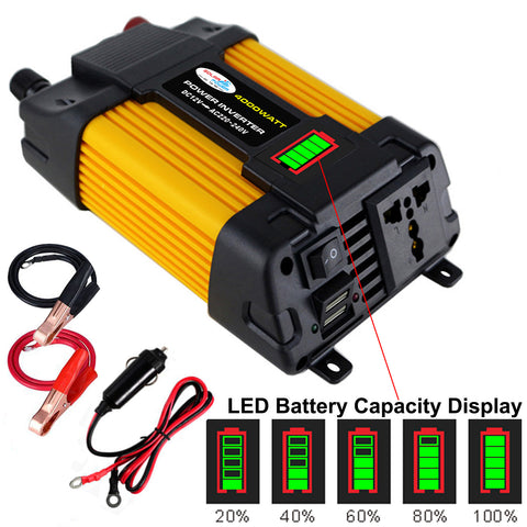 Image of Converter Car Inverter Double USB LED Display High Quality 12V220V / 110V 300W500W
