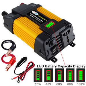 Converter Car Inverter Double USB LED Display High Quality 12V220V / 110V 300W500W