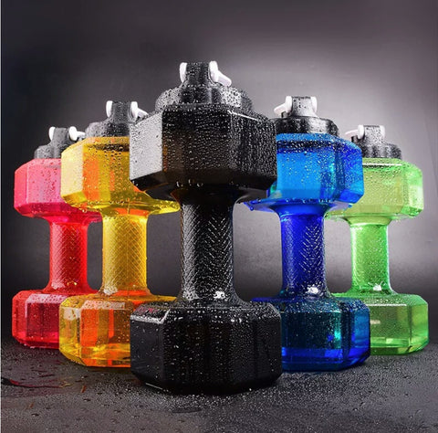 Image of Fitness Dumbbell Kettle Filled With Water Portable Plastic Creativity Fitness Equipment