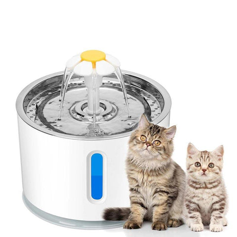 Image of Automatic Pet Cat Water Fountain Ultra Quiet USB Dog Drinking Fountain Drinker