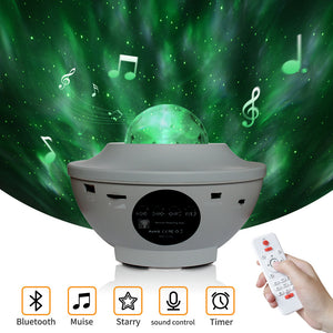 LED Colorful Starry Sky Projector Bluetooth USB Voice Control Music Player Projection Lamp