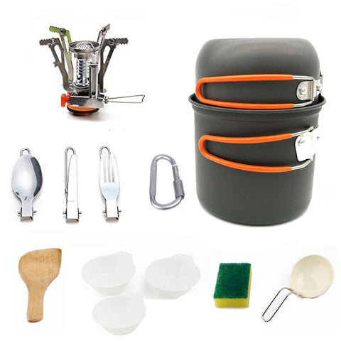 Image of Outdoor Picnic Tableware Camping Pot Trekking Pot Pieces / Set Camping Tableware