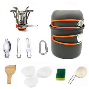 Outdoor Picnic Tableware Camping Pot Trekking Pot Pieces / Set Camping Tableware