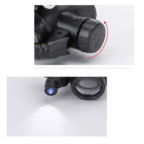 Image of Glasses-type Head Mount Dual High Power LED Magnifier Temples